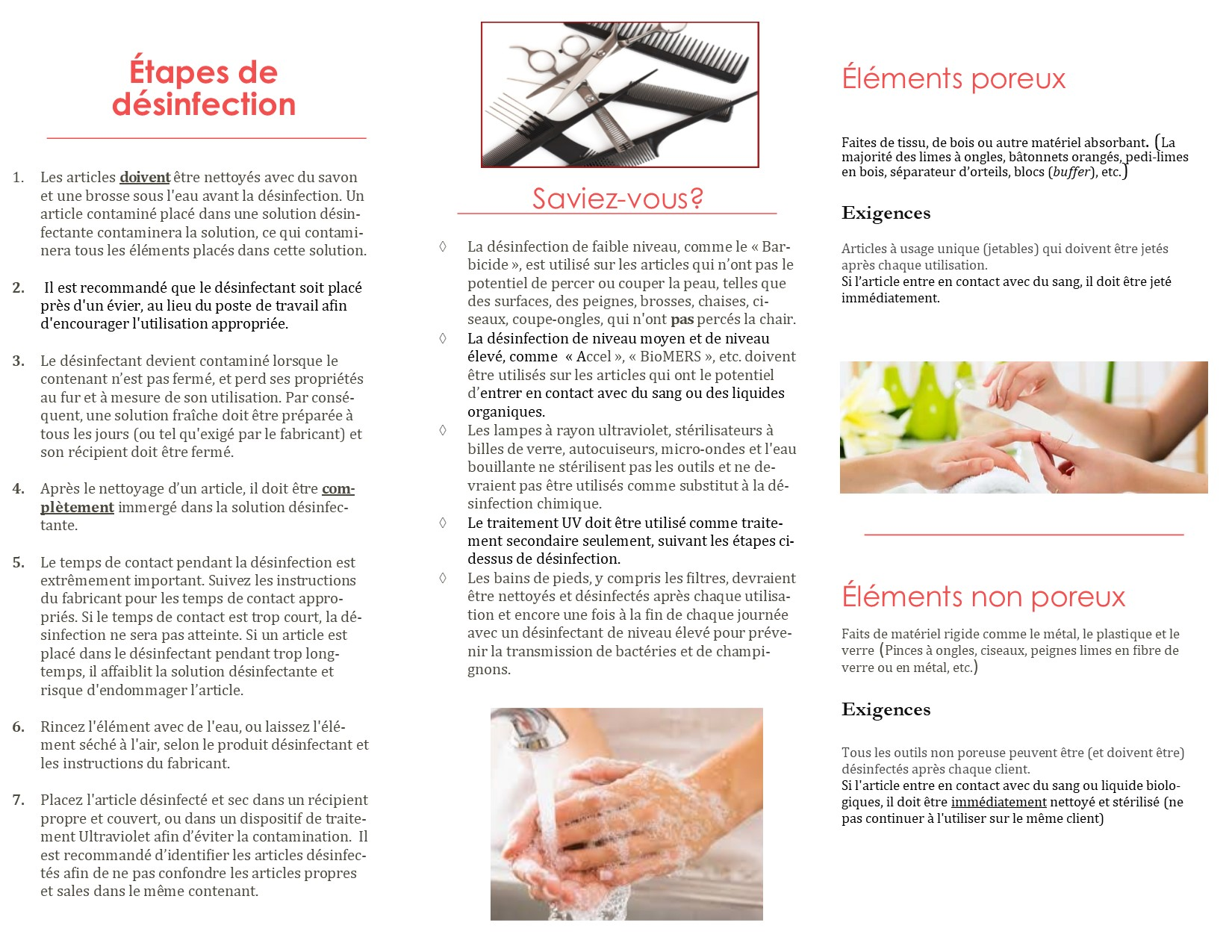 Disinfection brochure FR